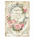 Stamperia - Rice Paper - A4 - Tag with Rose